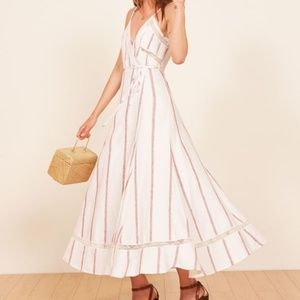 NWT Reformation Daria Licorice Wrap Midi Dress M